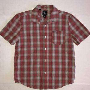 Volcom Plaid Button Up Shirt